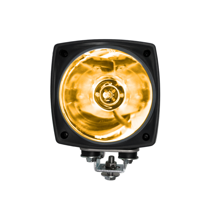"123-95000SA <BR />5""× 5"" H.I.D. Work Light – 24V Amber Spot"