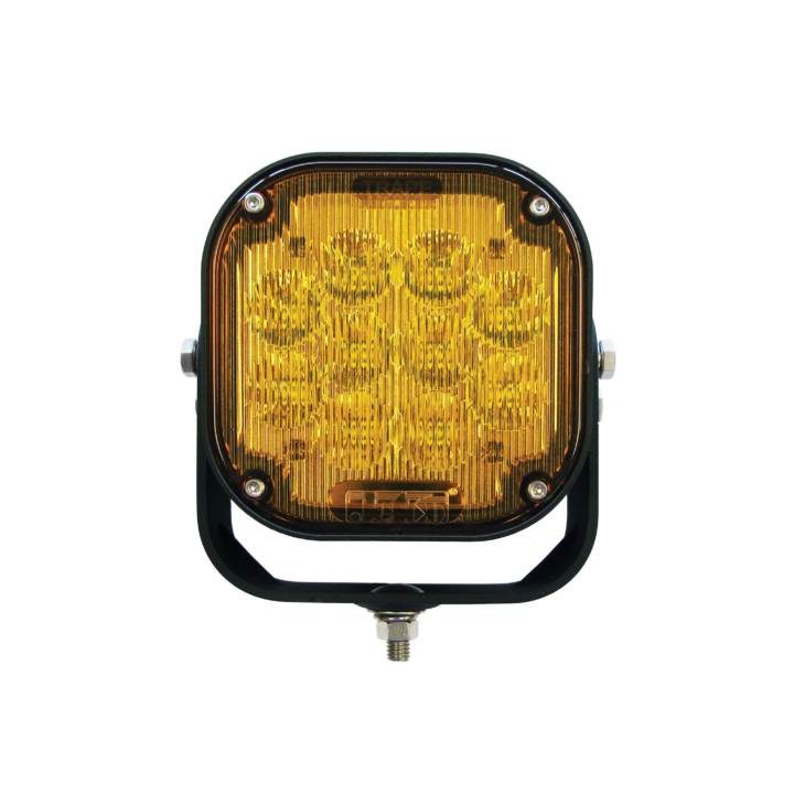"123-LED95000A <BR />5""x 5"" H.D. L.E.D. Amber Work Light – Trap"