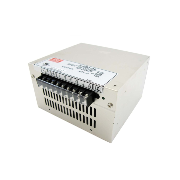 117-SPS1202410A <BR />Switching Power Supply  120VAC to 24VDC – 10A