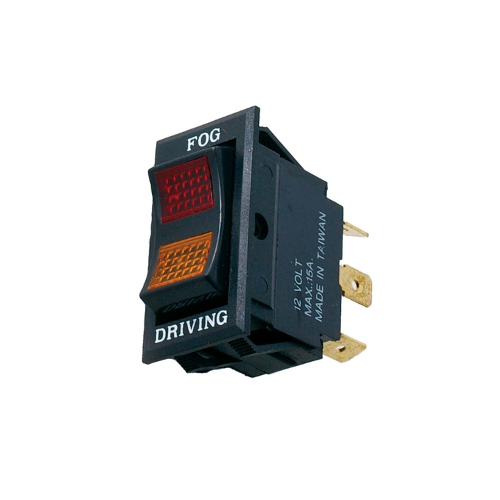 123-SW0012 <BR />Illuminated Driving / Fog (Hi / Low) Rocker Switch
