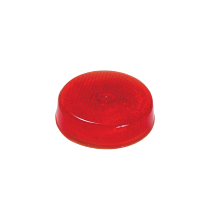 "126-1011 <BR />2.5"" Round Red Reflectorized Sealed Marker Lamp"