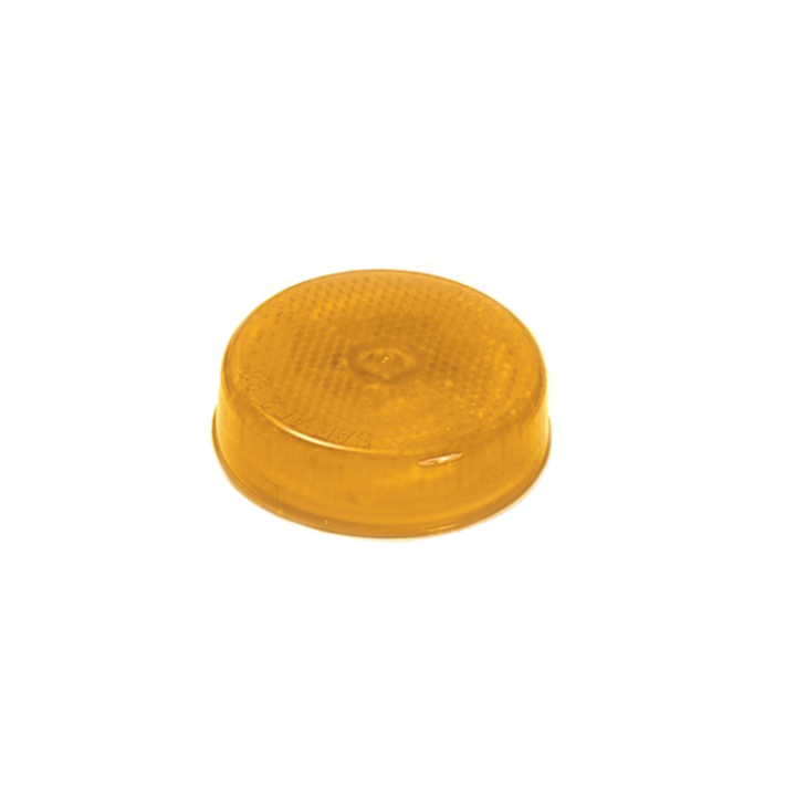 "126-1011A <BR />2.5"" Round Amber Reflectorized Sealed Marker Lamp"