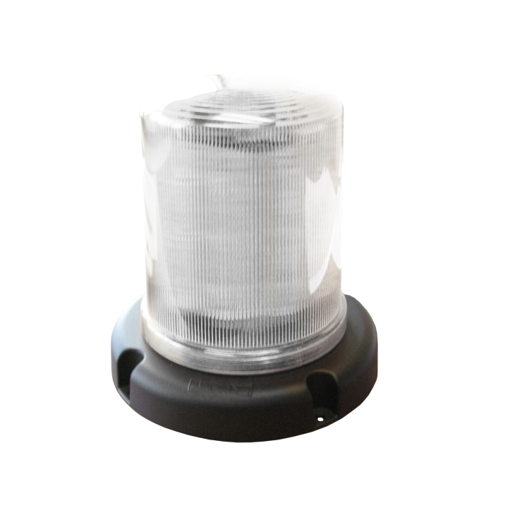 """126-67033ACL <BR />7.5"""" L.E.D. Amber Clear Warning Beacon Strobe"""