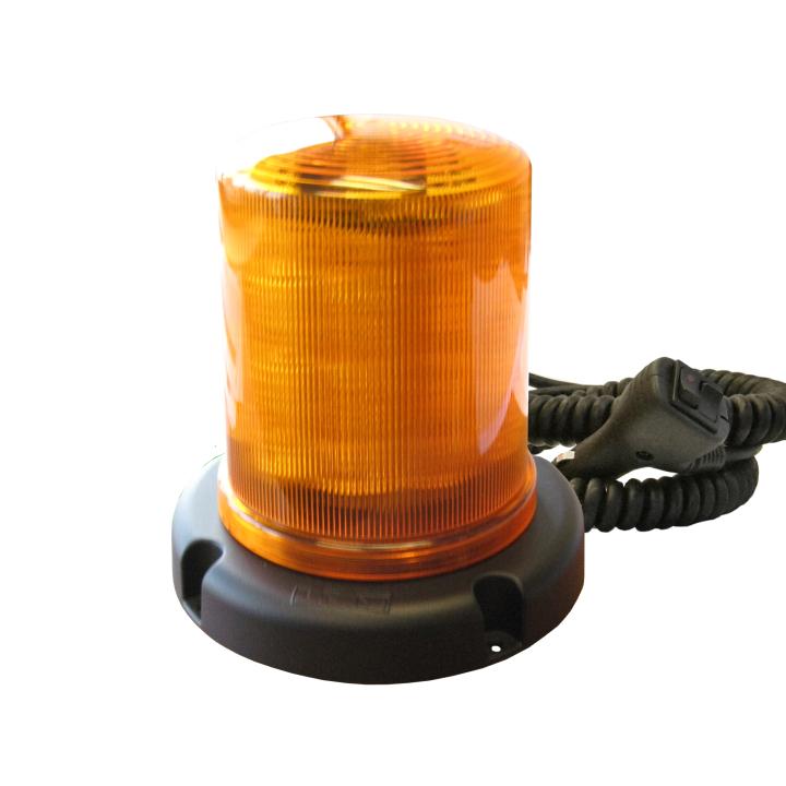 "126-67033MA <BR />7.5"" Magnetic L.E.D. Amber Warning Beacon Strobe"