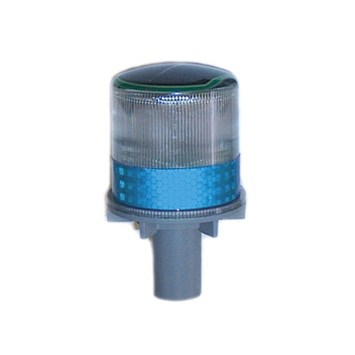 "126-67063B <BR />6""x 3"" Solar Powered L.E.D. Blue Warning Strobe"
