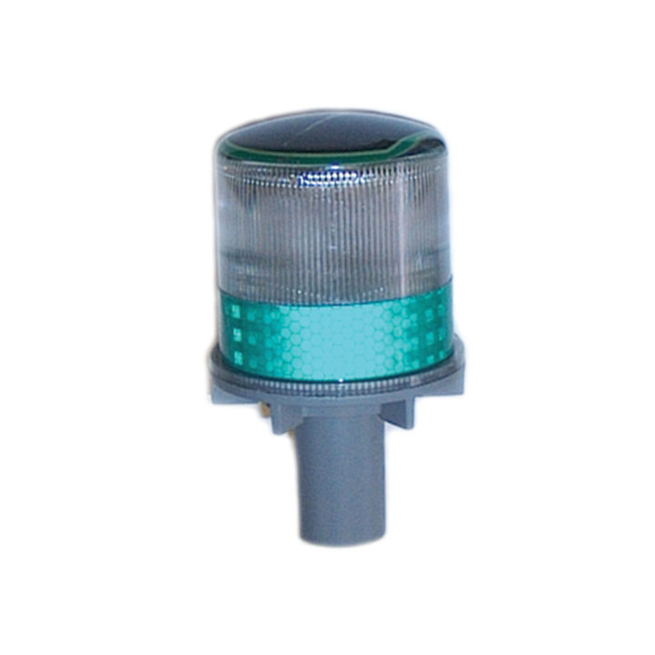 "126-67063G <BR />6""x 3"" Solar Powered L.E.D. Green Warning Strobe"