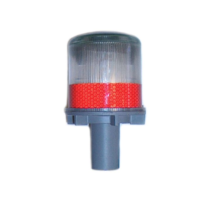 "126-67063R <BR />6""x 3"" Solar Powered L.E.D. Red Warning Strobe"