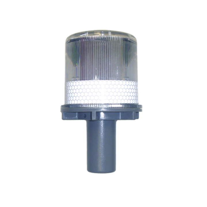 "126-67063W <BR />6""x 3"" Solar Powered L.E.D. White Warning Strobe"