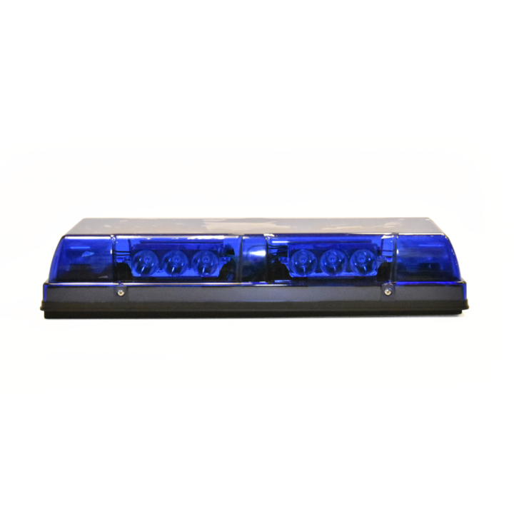 "126-67085B <BR />6""x 17"" L.E.D. Blue Low Profile Warning Beacon Strobe"