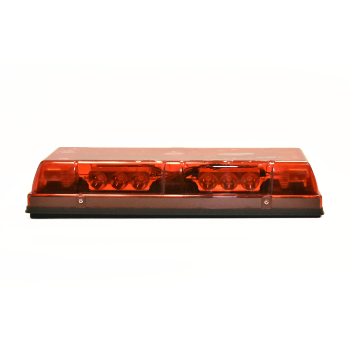 "126-67085R-8 <BR />6""x 17"" L.E.D. Red Low Profile Warning Beacon Strobe"