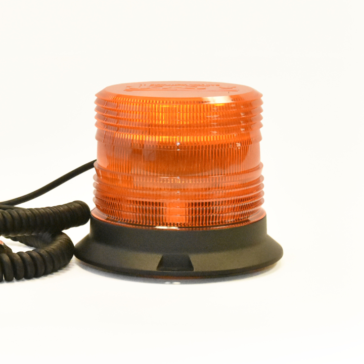 "126-67089MA <BR />5"" H.D. L.E.D. Amber Warning Beacon Strobe – Magnetic"