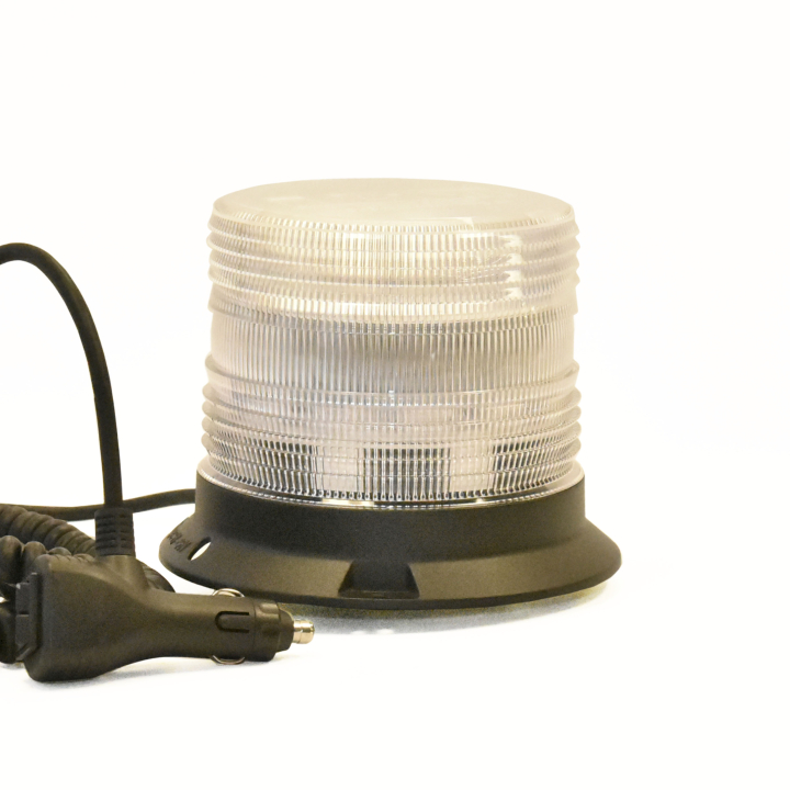 "126-67089MACL-8 <BR />5"" H.D. L.E.D. Amber Clear Warning Beacon Strobe &#8211; Magnetic"