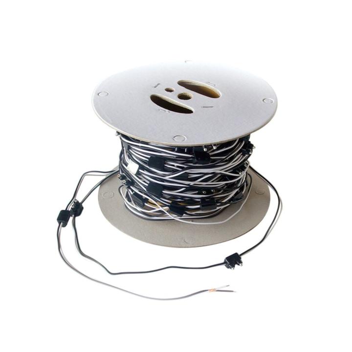 """119-9122-12B <BR />2-Prong Plug (Right Angle)  Bulk Roll (100') – 12"""" Spacing"""