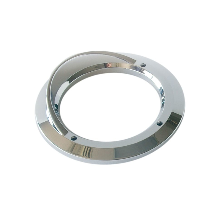 "126-9125V <BR />4"" Chrome Bezel / Grommet Cover with Visor"