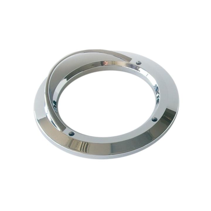 """118-9125V <BR />4"""" Chrome Bezel / Grommet Cover with Visor"""