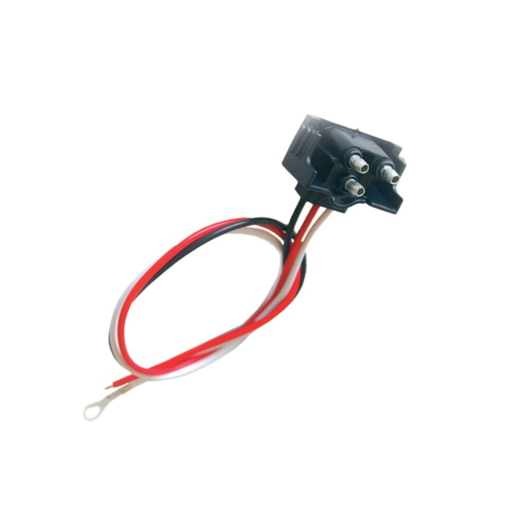 119-9128 <BR /> Three Wire Right Angle 3-Prong Plug