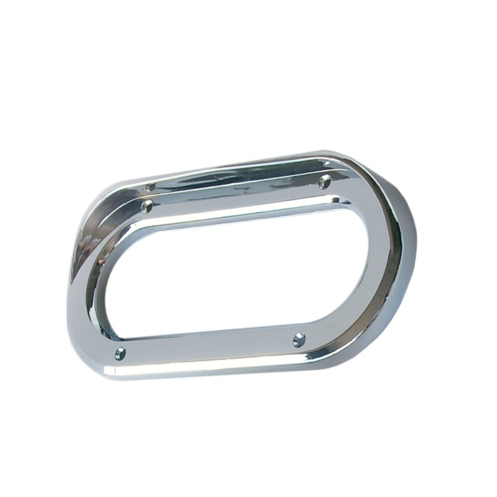 "126-9158V <BR />2″ x6"" Chrome Bezel / Grommet Cover with Visor"