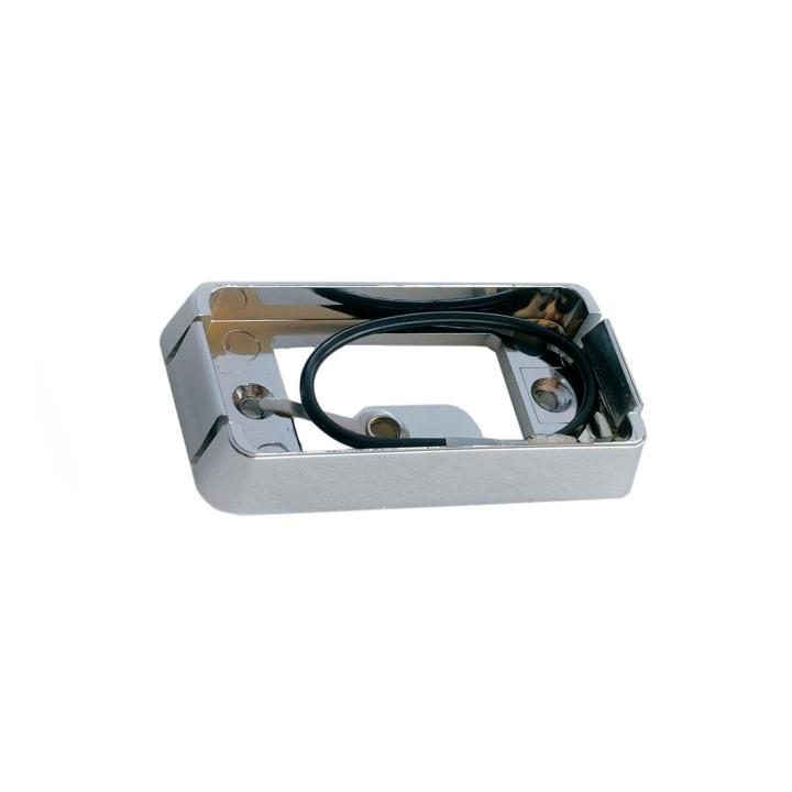 """118-9381C <BR />1"""" × 2"""" Chrome Plastic Base for Rectangular Sealed Lights"""