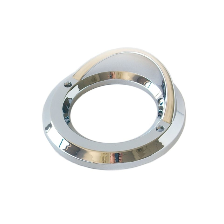 "126-9392V <BR />2.5"" Chrome Bezel / Grommet Cover with Visor"