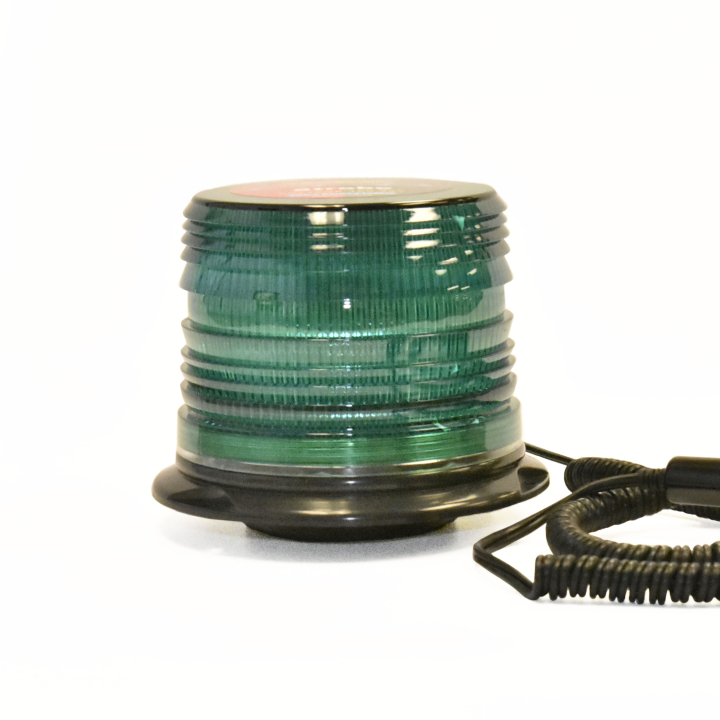 "126-LED67412MG <BR />5"" L.D. L.E.D. Green Strobe – Magnetic"