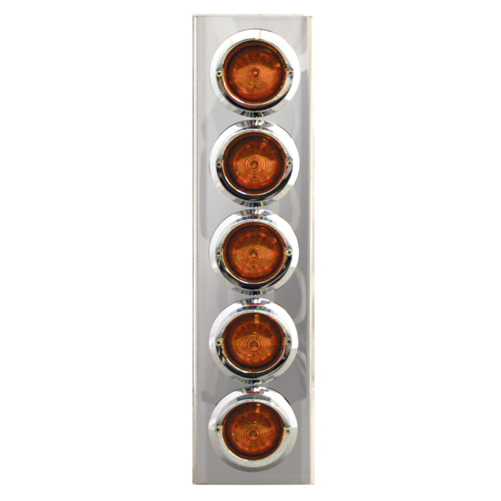 "127-100185 <BR /> 17"" x 4"" Amber L.E.D. Air Cleaner Light Bar Set – Amber"