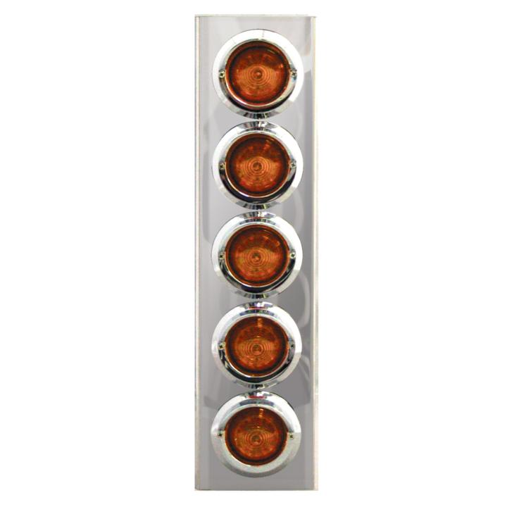 """127-100185A <BR /> 17"""" x 4"""" Amber L.E.D. Air Cleaner Light Bar Set – Amber"""