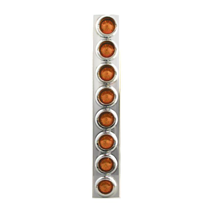 """127-100188A <BR /> 26""""x 4"""" Amber L.E.D. Air Cleaner Light Bar Set – Amber"""