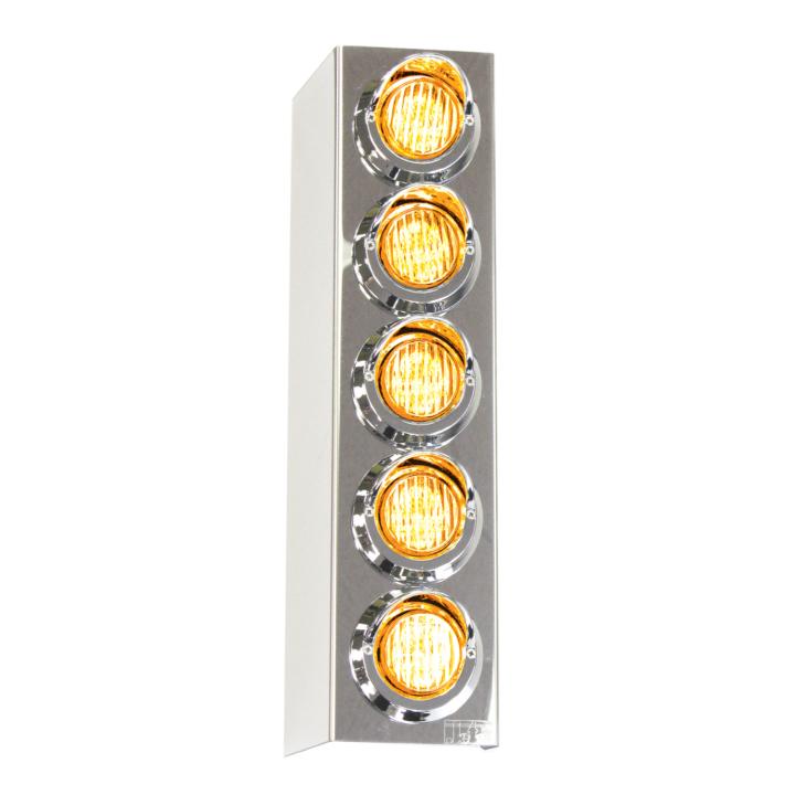 "127-160025ACL <BR /> 17"" x 4"" Amber L.E.D. Air Cleaner Light Bar Set – Clear Lens Amber"