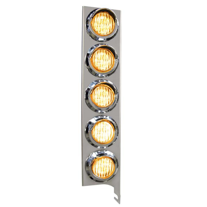 "127-160025ACLX <BR /> 19"" x 4"" Amber L.E.D. Air Cleaner Light Bar Set – Clear Lens Amber"
