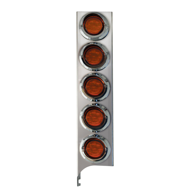 "127-160025X <BR /> 19"" x 4"" Amber L.E.D. Air Cleaner Light Bar Set – Amber"