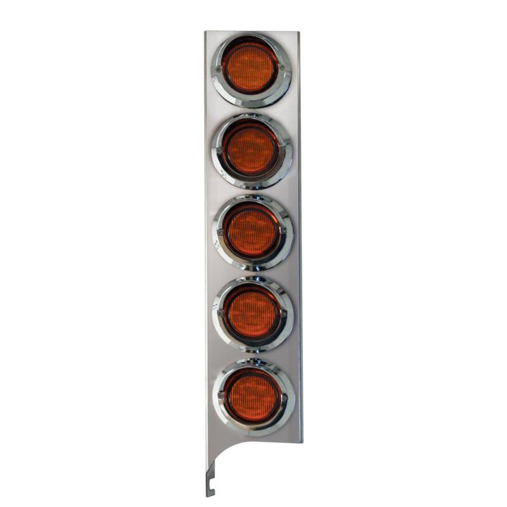 """127-160025X <BR /> 19"""" x 4"""" Amber L.E.D. Air Cleaner Light Bar Set – Amber"""
