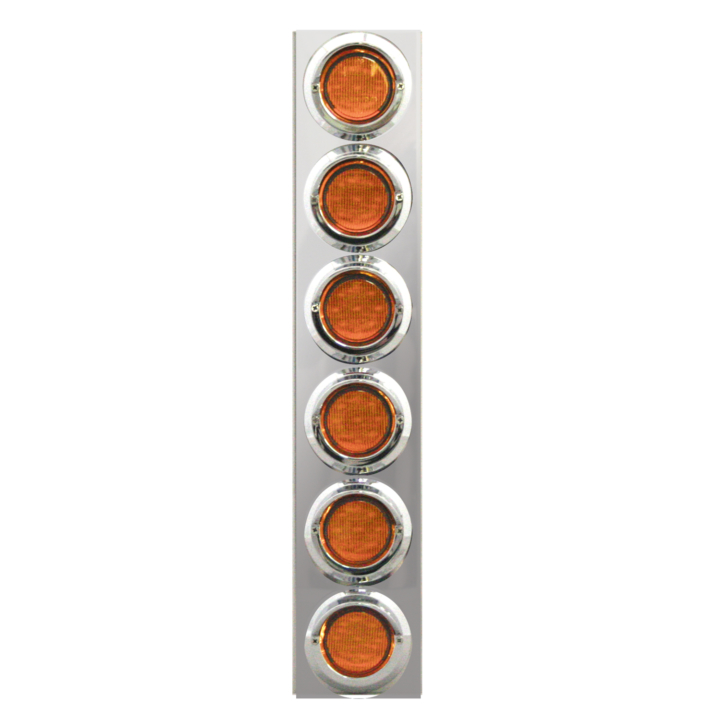 "127-160026 <BR /> 19""x 4"" Amber L.E.D. Air Cleaner Light Bar Set – Amber"