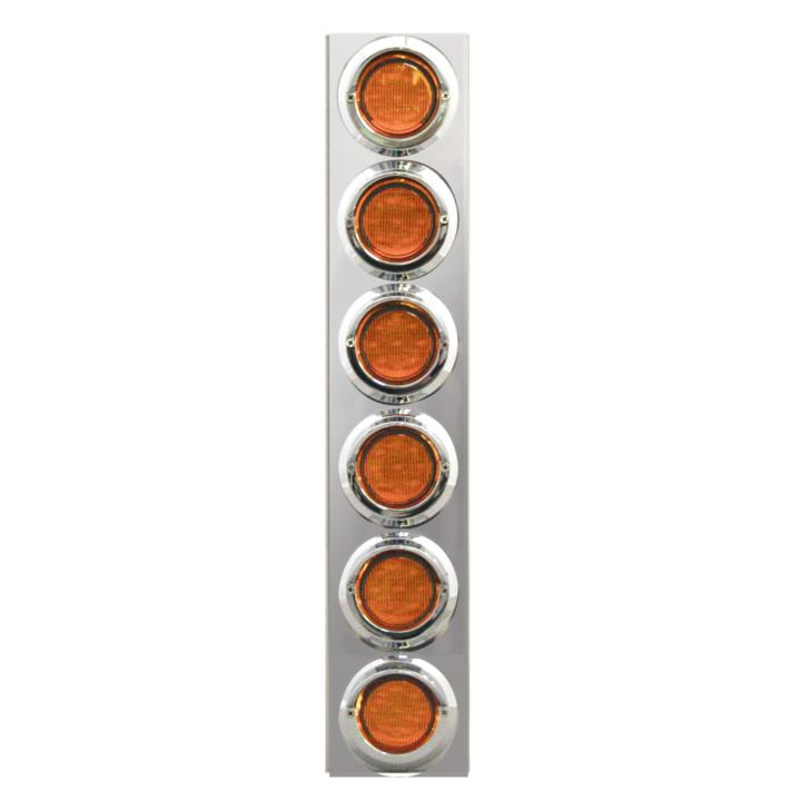"""127-160026A <BR /> 19""""x 4"""" Amber L.E.D. Air Cleaner Light Bar Set – Amber"""