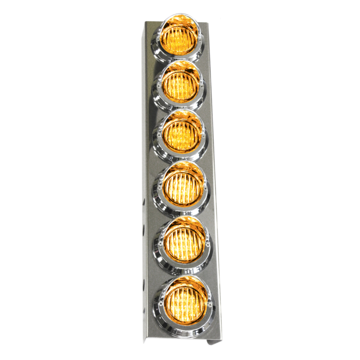 "127-160026ACL <BR /> 19""x 4"" Amber L.E.D. Air Cleaner Light Bar Set – Clear Lens Amber"