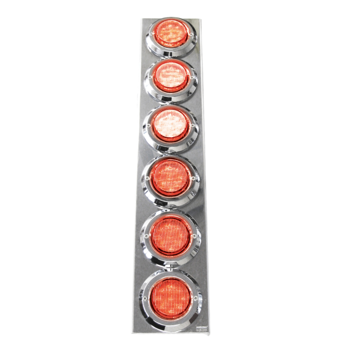 "127-160026RCL <BR /> 19""x 4"" Rear-facing Red L.E.D. Air Cleaner Light Bar Set – Clear Lens Red"
