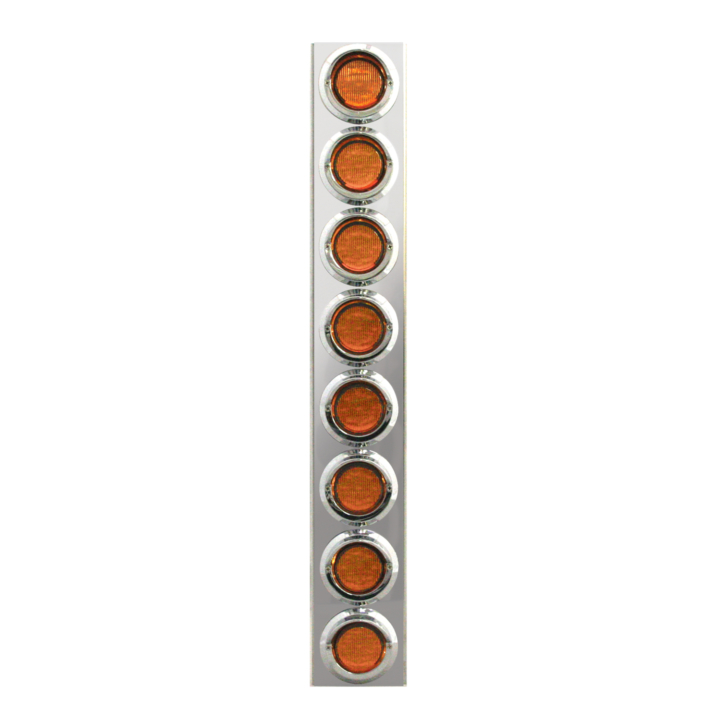 "127-160028 <BR /> 26""x 4"" Amber L.E.D. Air Cleaner Light Bar Set – Amber"