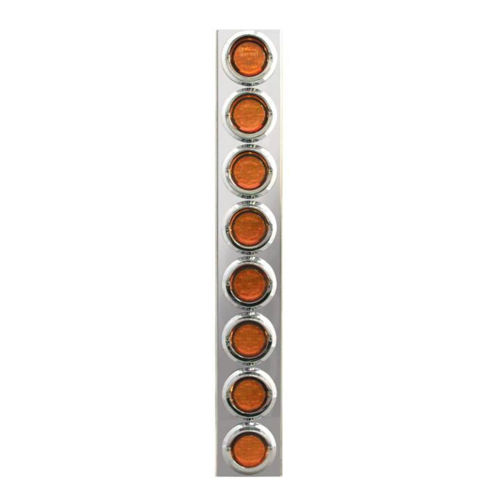"""127-160028A <BR /> 26""""x 4"""" Amber L.E.D. Air Cleaner Light Bar Set – Amber"""