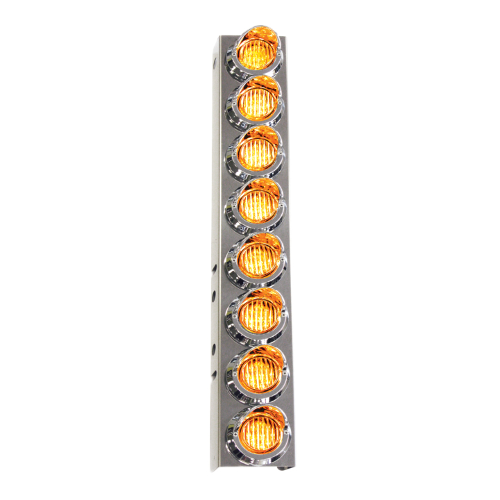 "127-160028ACL <BR /> 26""x 4"" Amber L.E.D. Air Cleaner Light Bar Set – Clear Leans Amber"