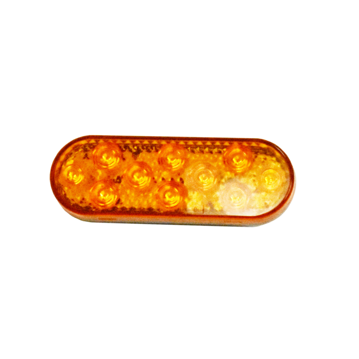 "127-60010AB (Bulk)<BR /> 6"" x 2"" Oval ""Compact CountTM"" L.E.D. Sealed S/T/T Lamp – Amber"