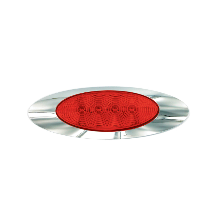 """127-66025R <BR />2.25"""" x 6.5"""" Panel Style """"Compact CountTM"""" L.E.D. – Red"""
