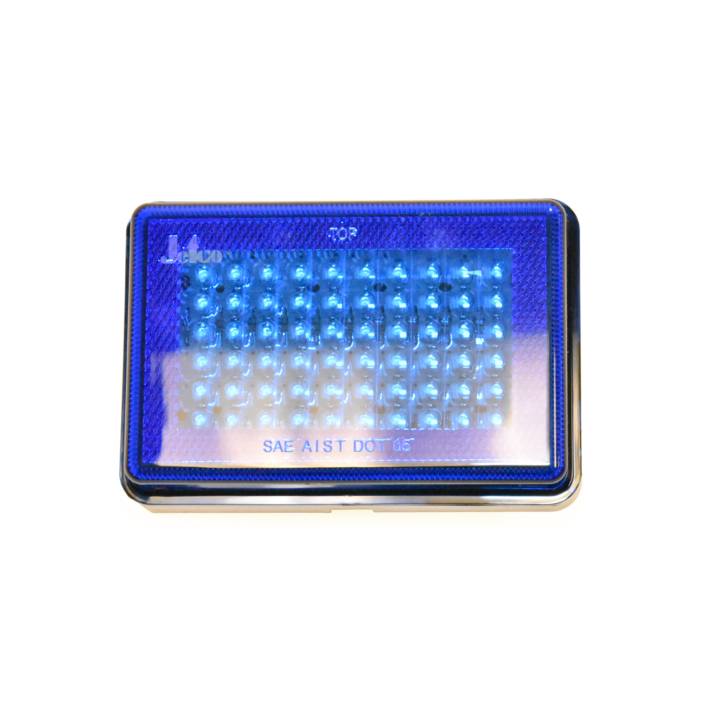"127-66077B-4 <BR /> 3""x 5"" Rectangular Reflectorized L.E.D. S/T/T Sealed Lamp – Blue"