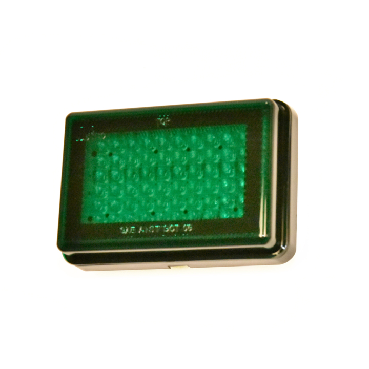 "127-66077G-4 <BR /> 3""x 5"" Rectangular Reflectorized L.E.D. S/T/T Sealed Lamp – Green"