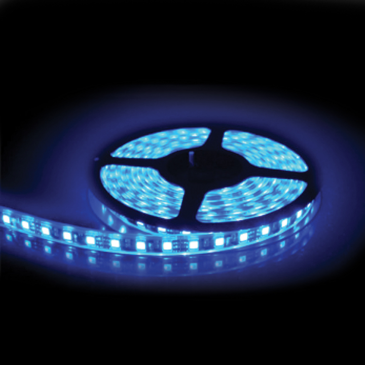 127-66080B <BR /> 5 Meter Blue L.E.D. Adhesive Lighting Strip