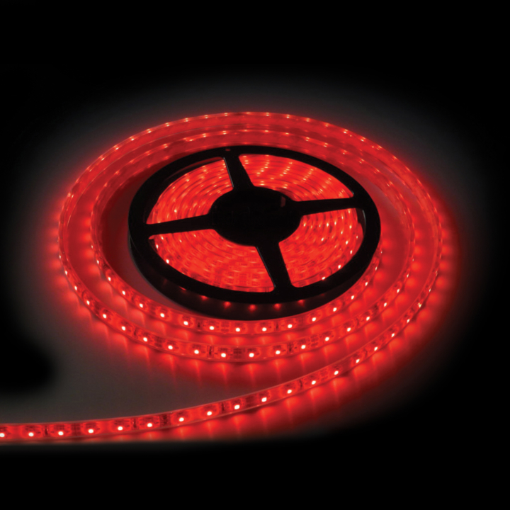 127-66080R <BR /> 5 Meter Red L.E.D. Adhesive Lighting Strip