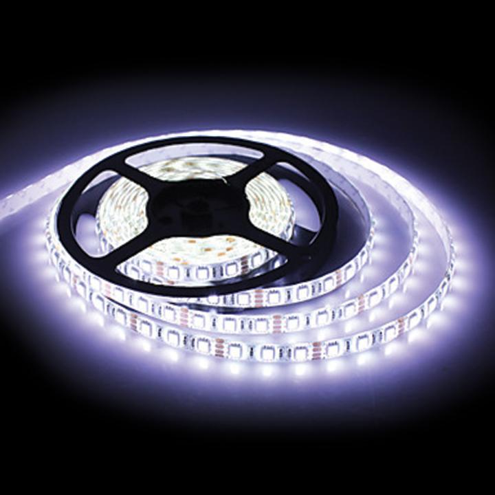 127-66080W <BR /> 5 Meter White L.E.D. Adhesive Lighting Strip