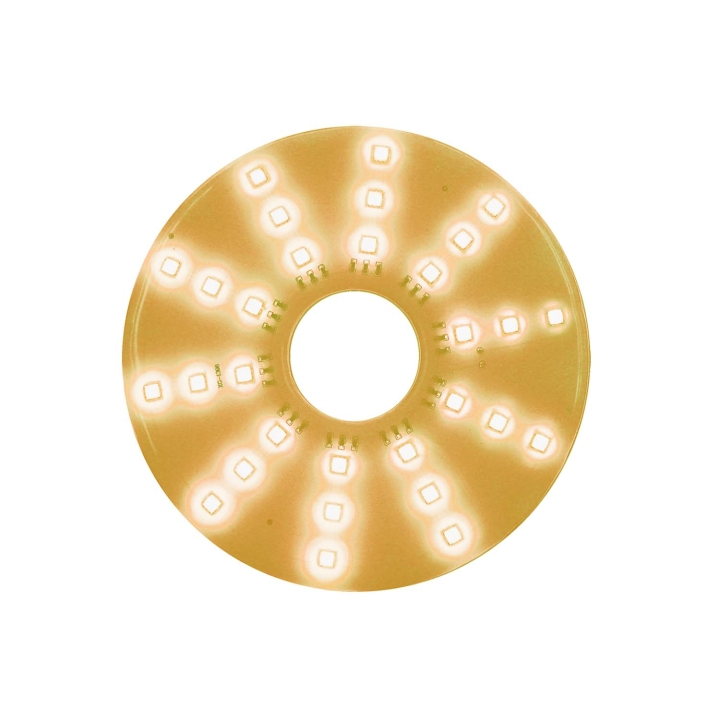 "127-66089A <BR /> 7"" Round Amber L.E.D. Pad Light"