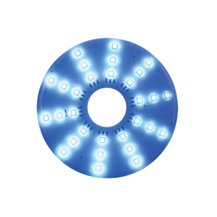 "127-66089B <BR /> 7"" Round Blue L.E.D. Pad Light"