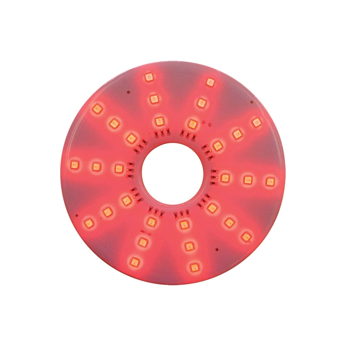 "127-66089R <BR /> 7"" Round Red L.E.D. Pad Light"