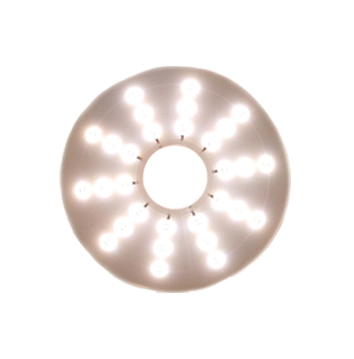 "127-66089W <BR /> 7"" Round White L.E.D. Pad Light"