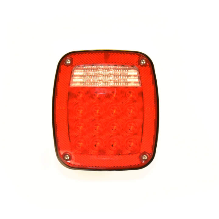 "127-66095L <BR /> 7″ x 6″ ""Maximum CountTM"" Heavy Duty L.E.D. Combination Taillight – Left with License Light"